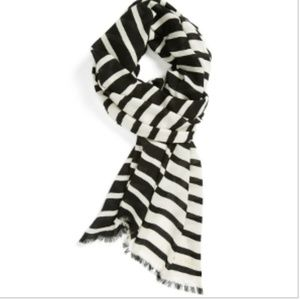 NEW Kate Spade Tinsel Town Cream and Black Scarf